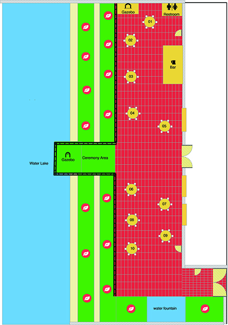 Chic Venue Floor Plan Outside View